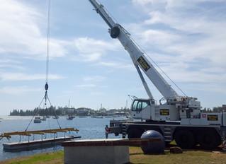 Port Macquarie Marina - Pontoon crane lift