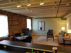Living Area and Exposed Beams