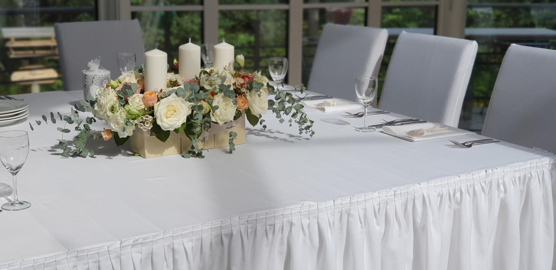 Svinību galda noformējums