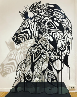 ZEBRA UNICORN SCULPTURE