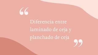 Diferencias entre Laminado de Ceja y Planchado de Ceja