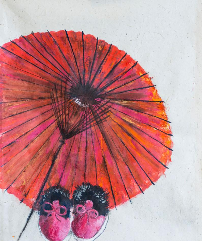 L'ombrelle rouge