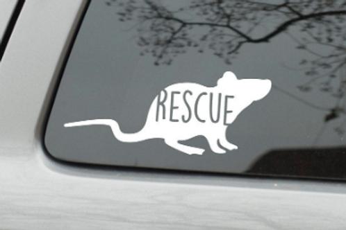 RESCUE rat - vinyl decal sticker