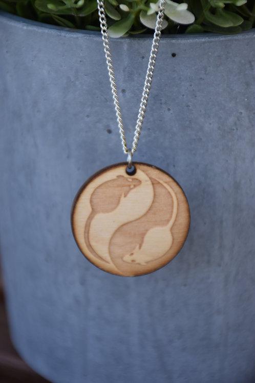Ying yang design necklace