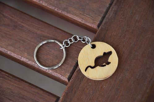 Rat cutout keychain