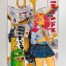 Gundam & Japanese Girl