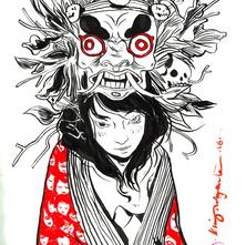 Gueisha com Kimono