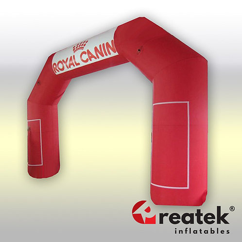 Inflatable arch : Polyester with velcro banners