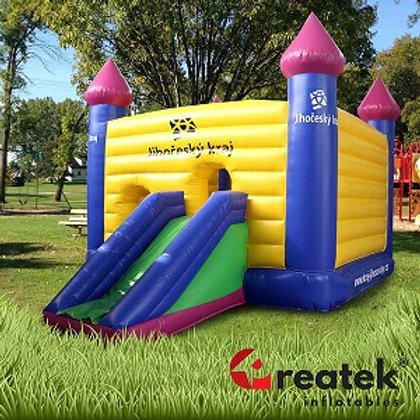 Inflatable branded bouncy castles