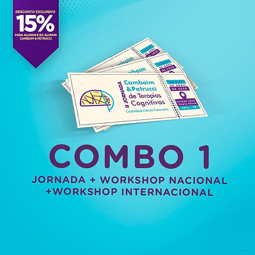 COMBO 1 -II Jornada + Workshop Internacional + Workshop Nacional [15%]