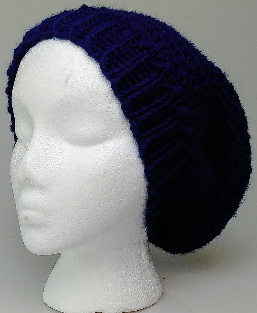 Navy Adult Slouchy hat/ Beanie