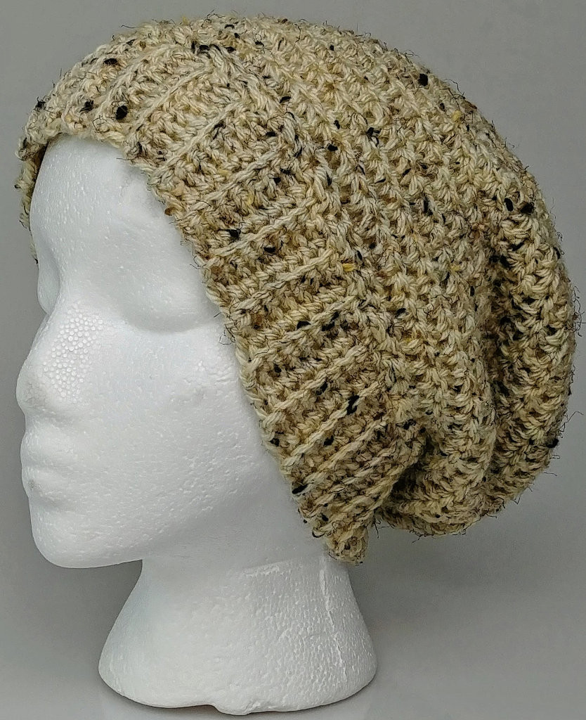 Oatmeal Adult Slouchy Hat/ Beanie