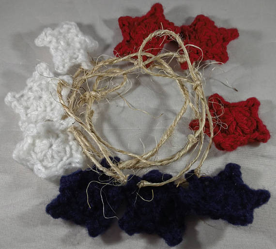 Red, White, and Blue Star garland