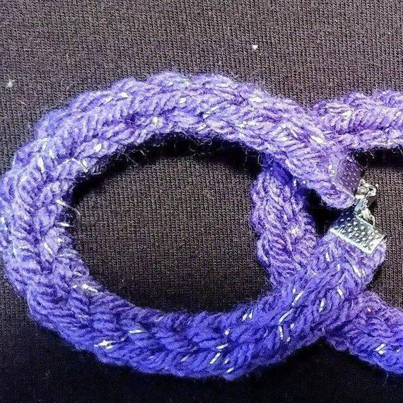 Small I-Cord bracelet in Grapette