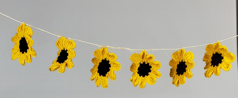 Finished Sunflower Garland