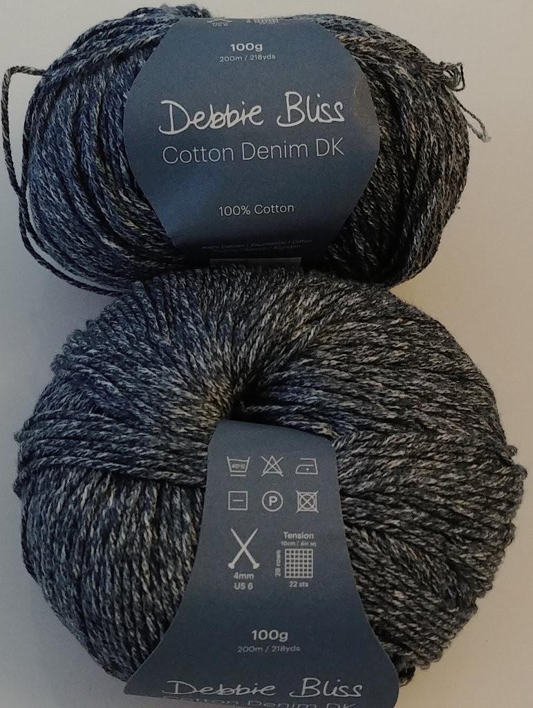 Blue 100% cotton Denim DK (3) weight yarn.