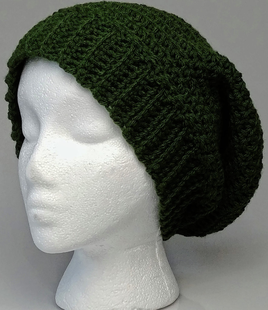 Green Adult Slouchy Hat/ Beanie