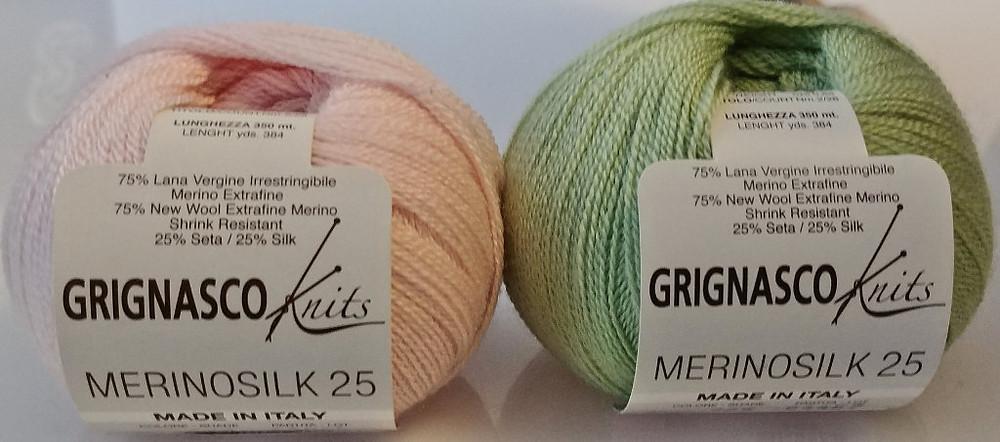 Superfine (1) weight Merinosilk blend yarn