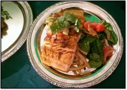 Seared Salmon & Strawberry Salsa