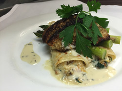 Pumpkin Seed Crusted Red Snapper