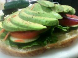 Open Faced Avocado Sandwich