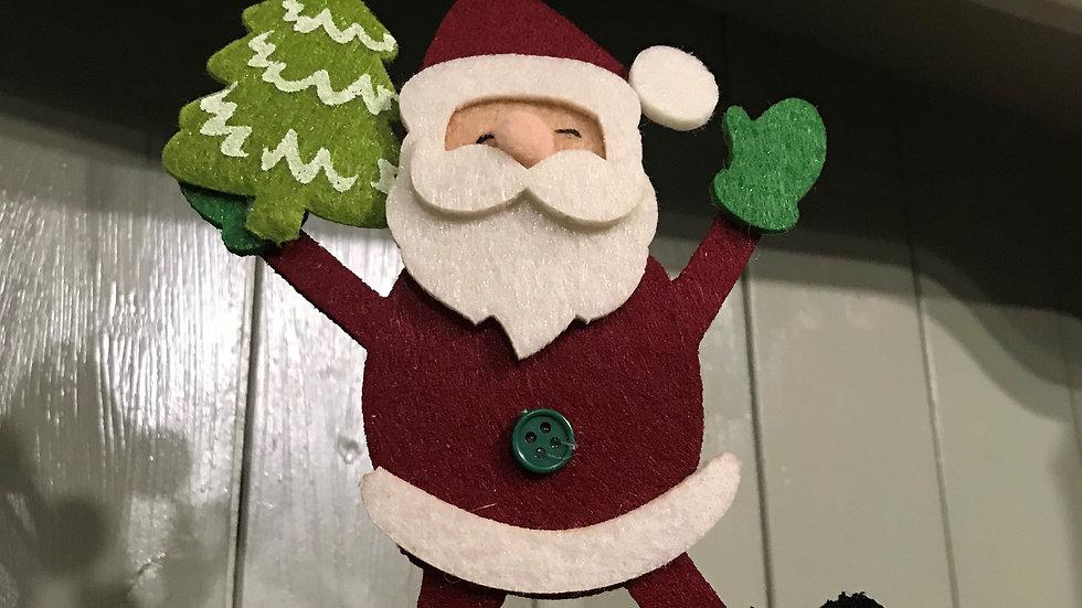 Felt Santa Christmas Tree Decoration