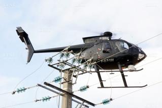 Diagnostic par hélicoptère des réseaux électriques de Corcelles