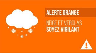 9 et 10 février : Vigilance Orange Neige et Pluie verglaçante