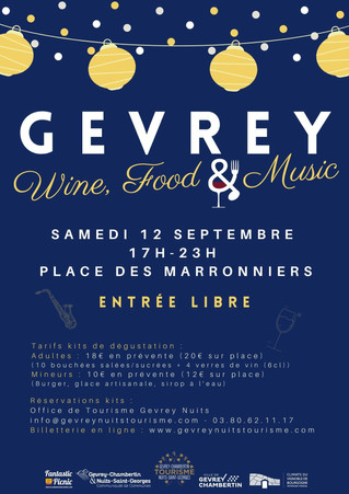 12/09 : Gevrey Wine, Food & Music !
