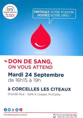 24/09 : Don du sang