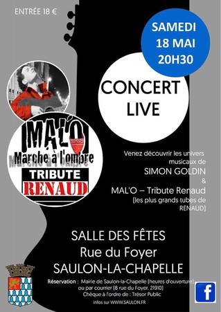 18 mai : Concert à Saulon
