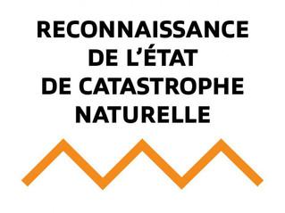 Reconnaissance d'état de catastrophe naturelle