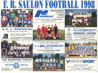 Calendrier 2018 duFC Saulon Corcelles