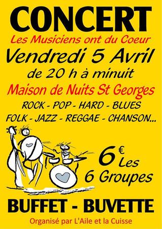 """Le 5 avril : """"Les Musiciens ont du Coeur"""""""