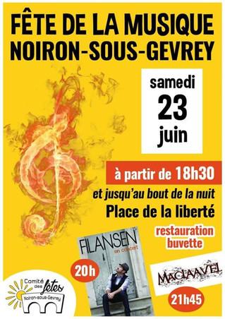 Fête de la musique à Noiron le 23 juin