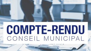 Compte-rendu du Conseil municipal du 1er mars