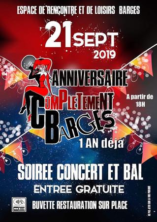 Concert à Barges le 21 septembre