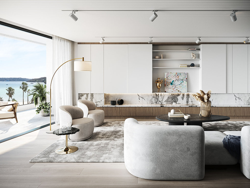 OPUS Rose Bay - Living Space Luxury Boutique Finishes