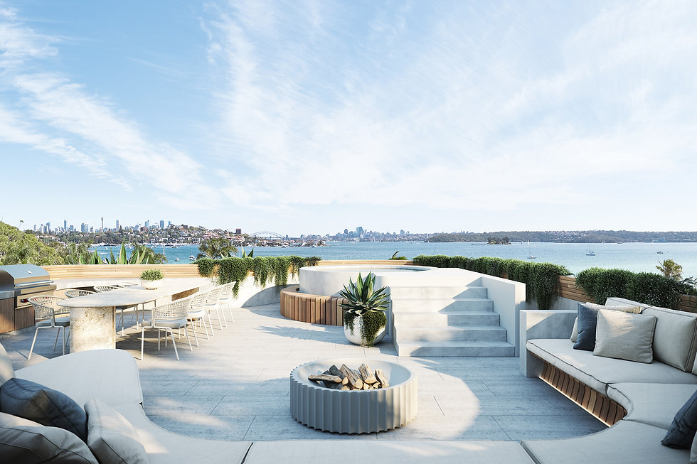 OPUS Rose Bay - Rooftop Terrace View