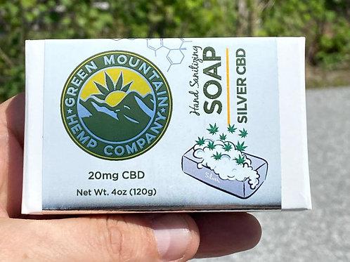 COLLOIDAL SILVER CBD BAR SOAP (4oz)