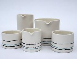 Inlaid Porcelain Pots and Pourers