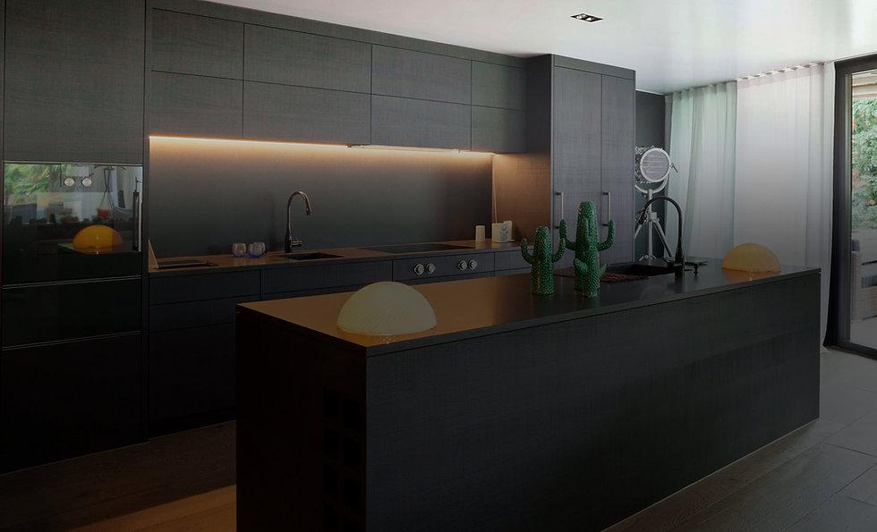stock-photo-modern-kitchen-with-black-fu