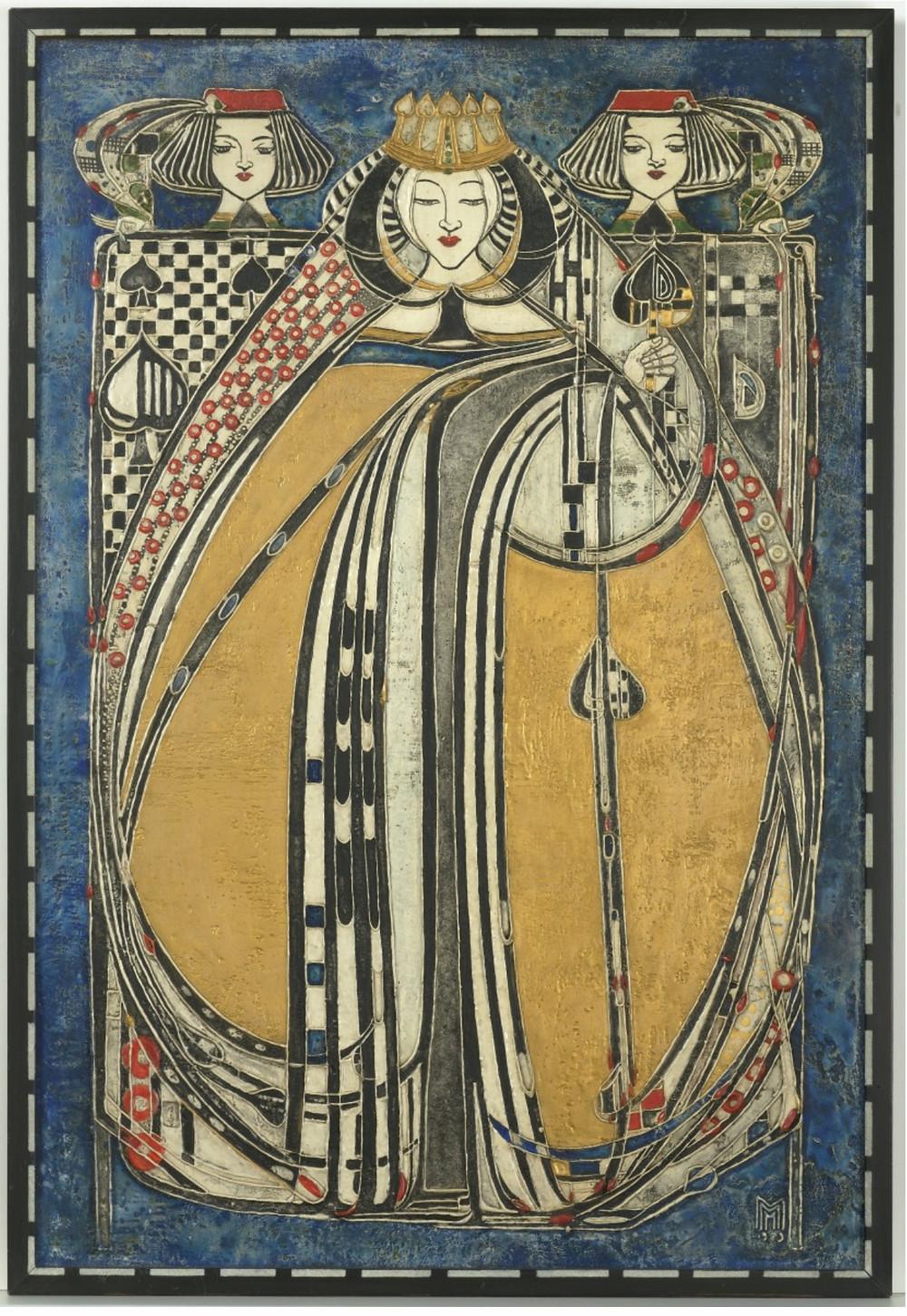 Queen Of Spades by Margaret Macdonald Macintosh