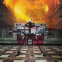 drone caméra au dessus