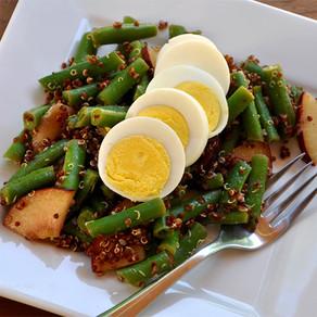 Green Beans, Egg and Quinoa Salad