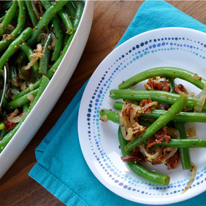 Bacon & Mustard Spiked Green Beans