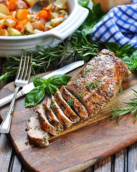 One-Dish-Garlic-and-Herb-Pork-Tenderloin