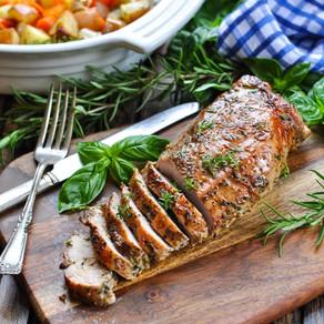One Dish Garlic and Herb Pork Tenderloin