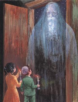אליהו הנביא בליל הסדר (ציורו של זלמן קליינמן)