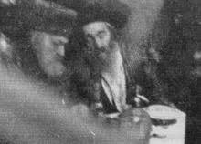 רבי יוסף צבי דושינסקיא עם רבי אהרן ראטה זיעועכי״א